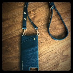 Bandolier ROXANNE Black and Rose Gold. Used once.